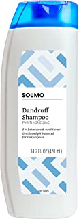 Amazon Brand - Solimo 2-in-1 Dandruff Shampoo and Conditioner, Gentle and pH Balanced, 14.2 Fluid Ounces