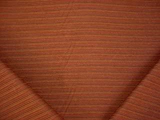 232RT19 - Burgundy / Sienna Red / Reddish Gold Pinstripe Textured Southwest Chenille Designer Upholstery Drapery Fabric - By the Yard