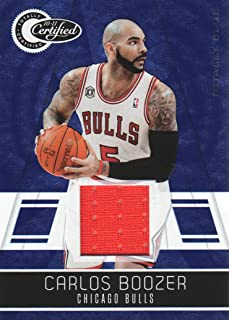 2010-11 Totally Certified Blue Jersey #15 Carlos Boozer 43/99 Chicago Bulls