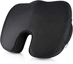 Orthopedic Seat Cushion Memory Foam, Breathable 3D MESH Cover, Carry Handle and Non-Slip bottom. Ergonomically designed for Coccyx tailbone relief, sciatica pain and improved posture. Ideal for Office, Car, Home, Wheelchair and Travel. By Memory Mate®