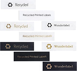 Wunderlabel Personalized Custom Customize Recycled Printed Satin Label DIY Cute Crafting Craft Art Fashion Ribbon Ribbons Gift Tag Clothing Sewing Sew Clothes Garment Tags, 100 Labels