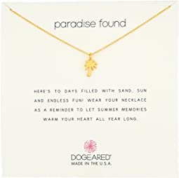 Dogeared - Paradise Found Smooth Palm Tree Necklace