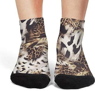 Comfort no show socks for women Animal print leopard camouflage boat shoes socks womens Cozy footwear