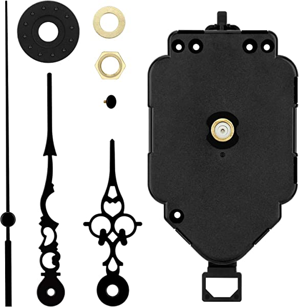 Blisstime Pendulum Clock Mechanism Movement Replacement DIY Clock Mechanism With Pendulum Clock Hands And Motor Kits 1 2 Inch Maximum Dial Thickness 9 10 Inch Total Shaft Length