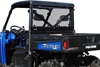SuperATV Lightly Tinted Scratch Resistant Polycarbonate Rear Windshield for Polaris Ranger XP 1000 / Crew (2017+) - Easy to Install!