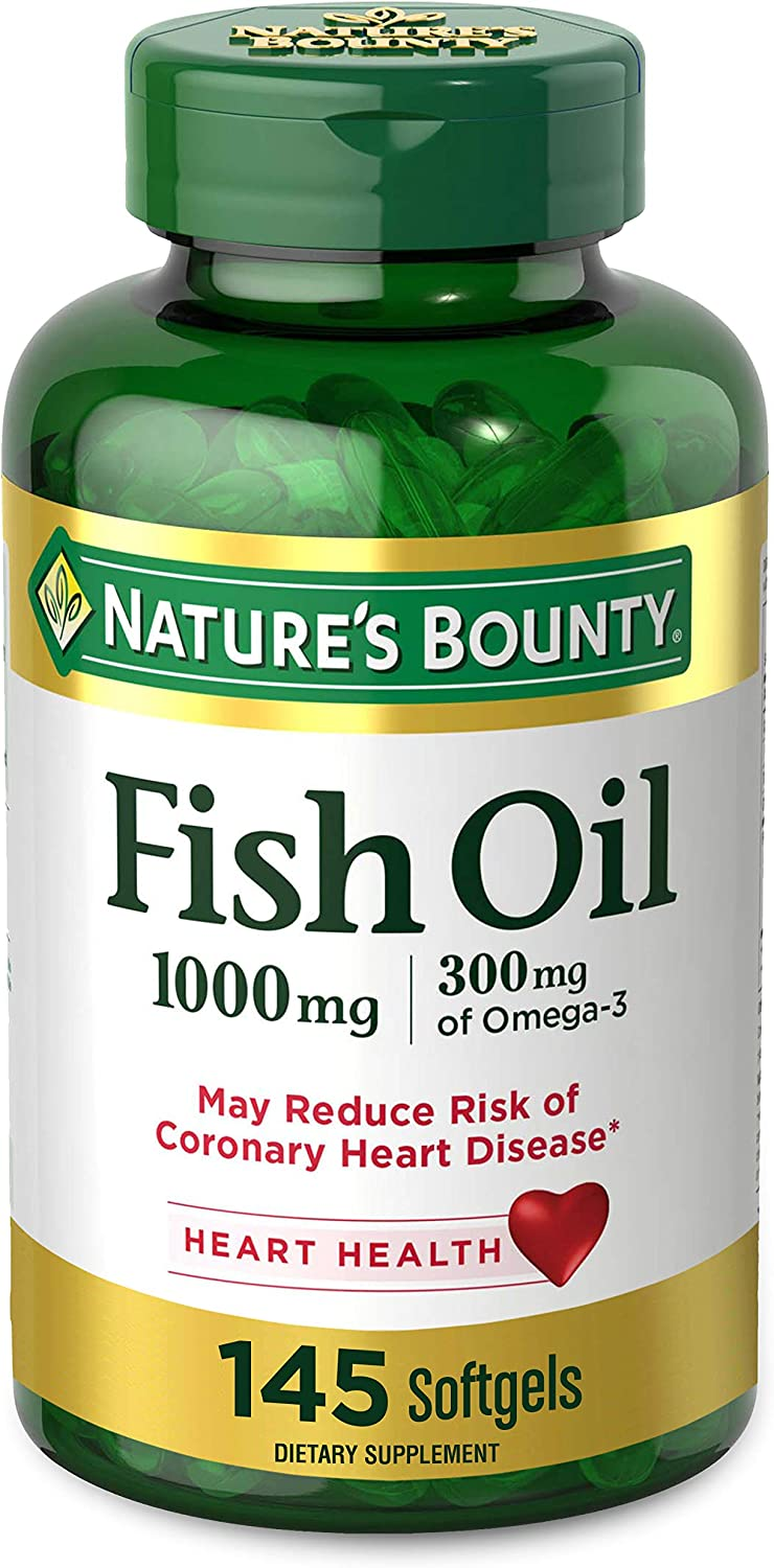 Natures Bounty Fish Oil, 300 mg of Omega-3, 145 Count