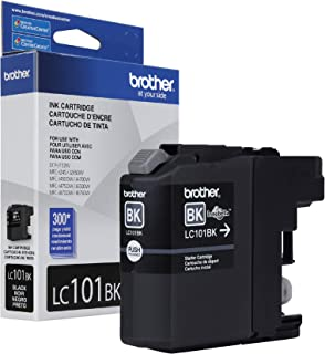 Brother Genuine Standard Yield Black Ink Cartridge, LC101BK, Replacement Black Ink, Page Yield Upto 300 Pages, LC101