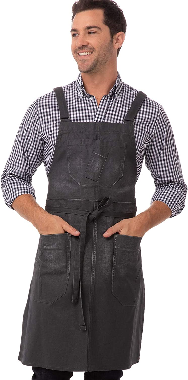 Chef Works 4 years warranty Men's Bib Max 70% OFF Apron Galveston