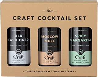 W&P Craft Cocktail Syrup Set, Old Fashioned, Moscow Mule, & Spicy Margarita, Bar Collection, Craft Cocktails, 3 Bottles, Variety Pack, 8 Ounces Each