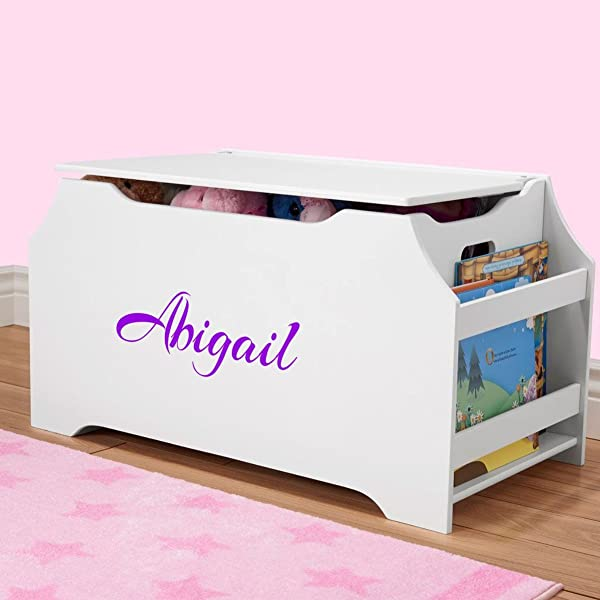 DIBSIES Personalization Station Personalized Dibsies Kids Toy Box With Book Storage Girls White