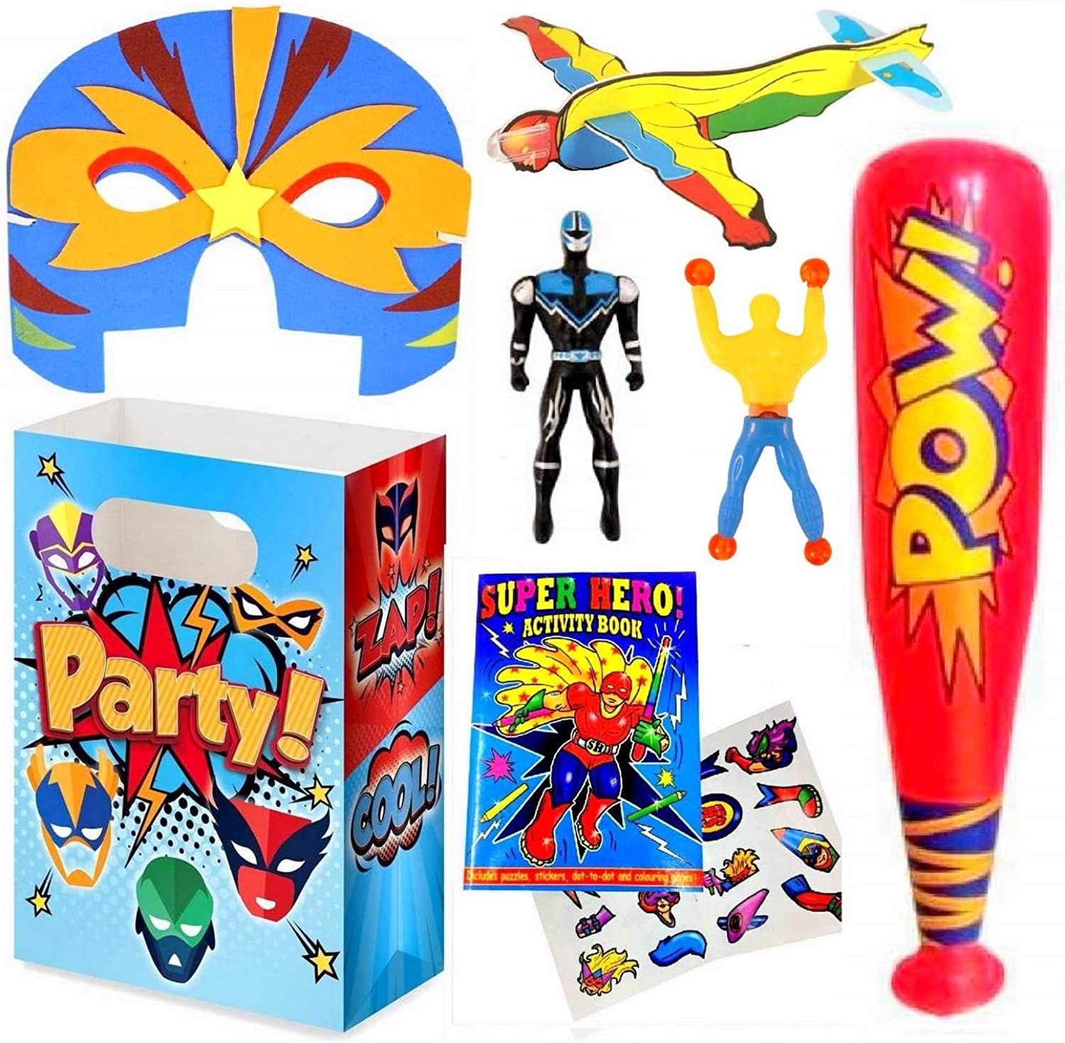 Superheroes Party Bag with Fillers  Multi Packs (15 Pack)