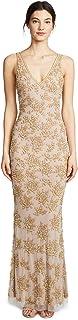Parker Women's Black Tabatha Sleeveless V-Neck Beaded Maxi Dress