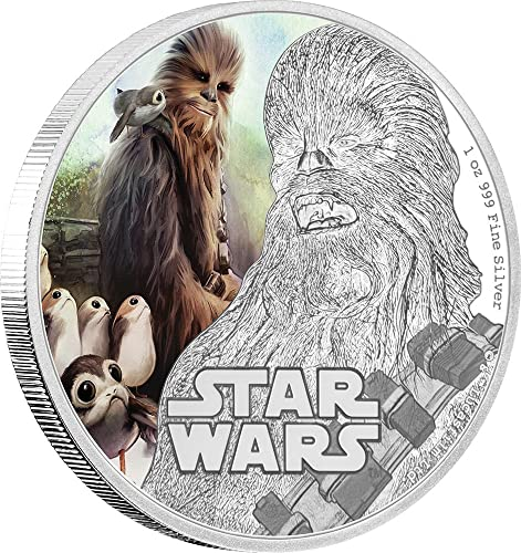 Chewbacca Star Wars The Last Jedi 1 Oz argent Coin 2  Niue 2017