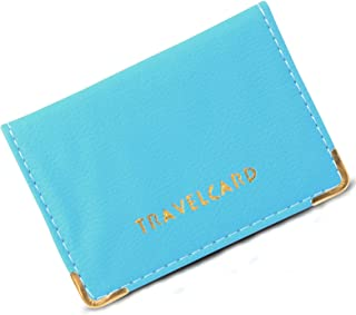 Unisex Soft Leather Travel Card Bus Pass Holder Credit Card ID Card Wallet Cover Case Holder by REAL ACCESSORIES Plain/Pol...