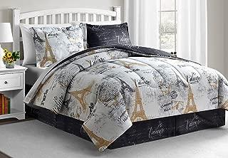 Fairfield Square Collection Paris Gold 8-Pc King Size. Reversible Comforter Sets