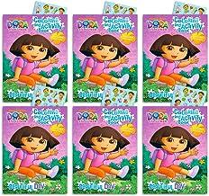 Dora the Explorer Party Favors Pack -- 6 Coloring Books and 8 Sticker Sheets (Dora the Explorer Party Supplies)