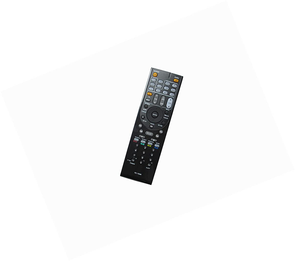 Hotsmtbang Replacement Remote Control for Onkyo TX-SR702E RC-647M RC-607M HT-R520 HT-S9300THX HT-SR508 TX-NR616 TX-NR414 RC-836M TX-SA578 RC-707M Audio Video AV Receiver System