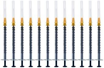 20Pack-1ml/cc Syringe with 25Ga Needle,Disposable Syringe with Needle (1ml20)
