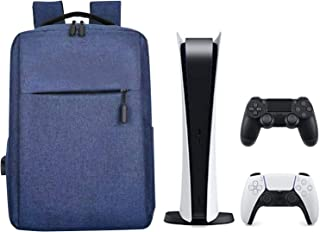 A/A PS-4 Ps5 Bolsa para Mochila De V-iaje - Bolsa De Almacenamiento para Accesorios De Consola PS5 - con Correa Ajustable para El Hombro Y Cargador USB - Antiarañazos A Prueba De Golpes