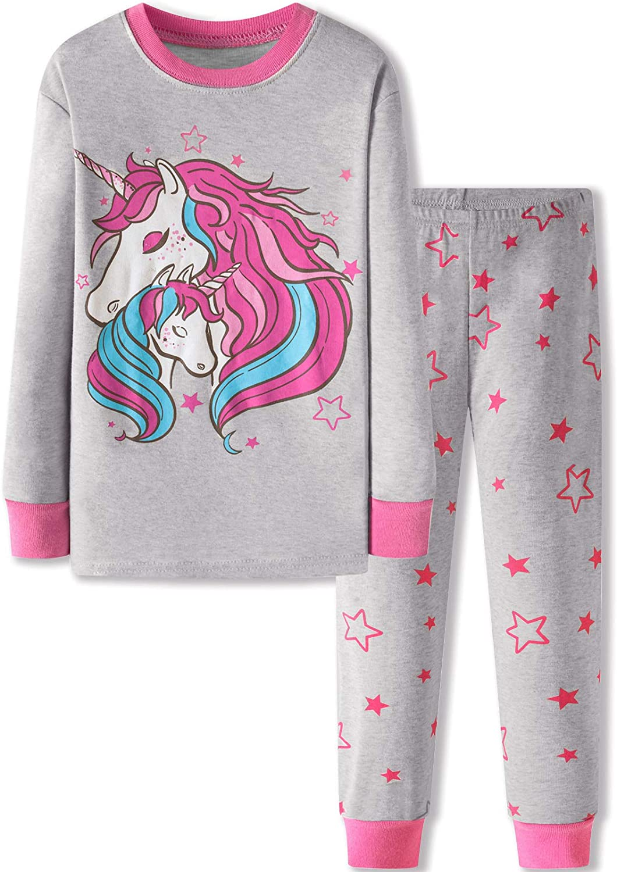 DAUGHTER QUEEN 18 Months-12 Years Girls Pajamas Set 100% Cotton Long Sleeve Kids Sleepwear