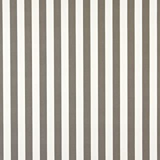 B486 Grey Striped Indoor Outdoor Marine Scotchgard Upholstery Fabric by The Yard