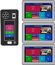 HBHYQ Apartamento de 10 Pulgadas 3 monitores WiFi inalámbrico Video Door Putton Timbre Sistema de intercomunicación 1080p ...