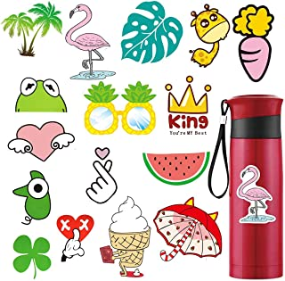 SUNNYHILL 16 pcs Cute Stickers for Water Bottles Waterproof Aesthetic Cool Stickers Perfect for Laptop Phone Travel Suitcase 100% Vinyl
