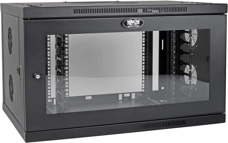 Tripp Lite 9U Wallmount Rack Enclosure Wide Cable Management Acrylic Window