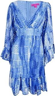 Women's Denim Blue Boho Lace