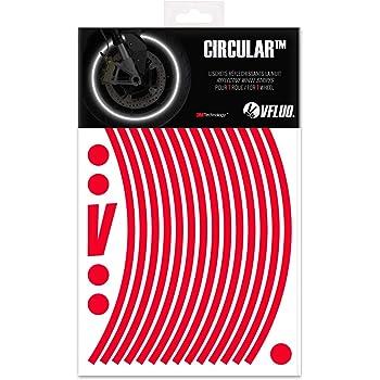 1 Roue VFLUO Circular/™ Liseret Largeur XL : 7 mm Kit Bandes Jantes Moto r/étro r/éfl/échissantes Jaune 3M Technology/™