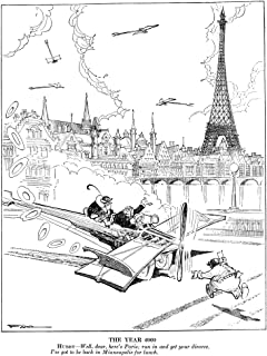 Farr Cartoon 1925 NThe Year 2000 Hubby - Well Dear HereS Paris Run In And Get Your Divorce IVe Got To Be Back In Minneapolis For Lunch Cartoon By Jack Farr For Judge 18 July 1925 Poster Print by (24