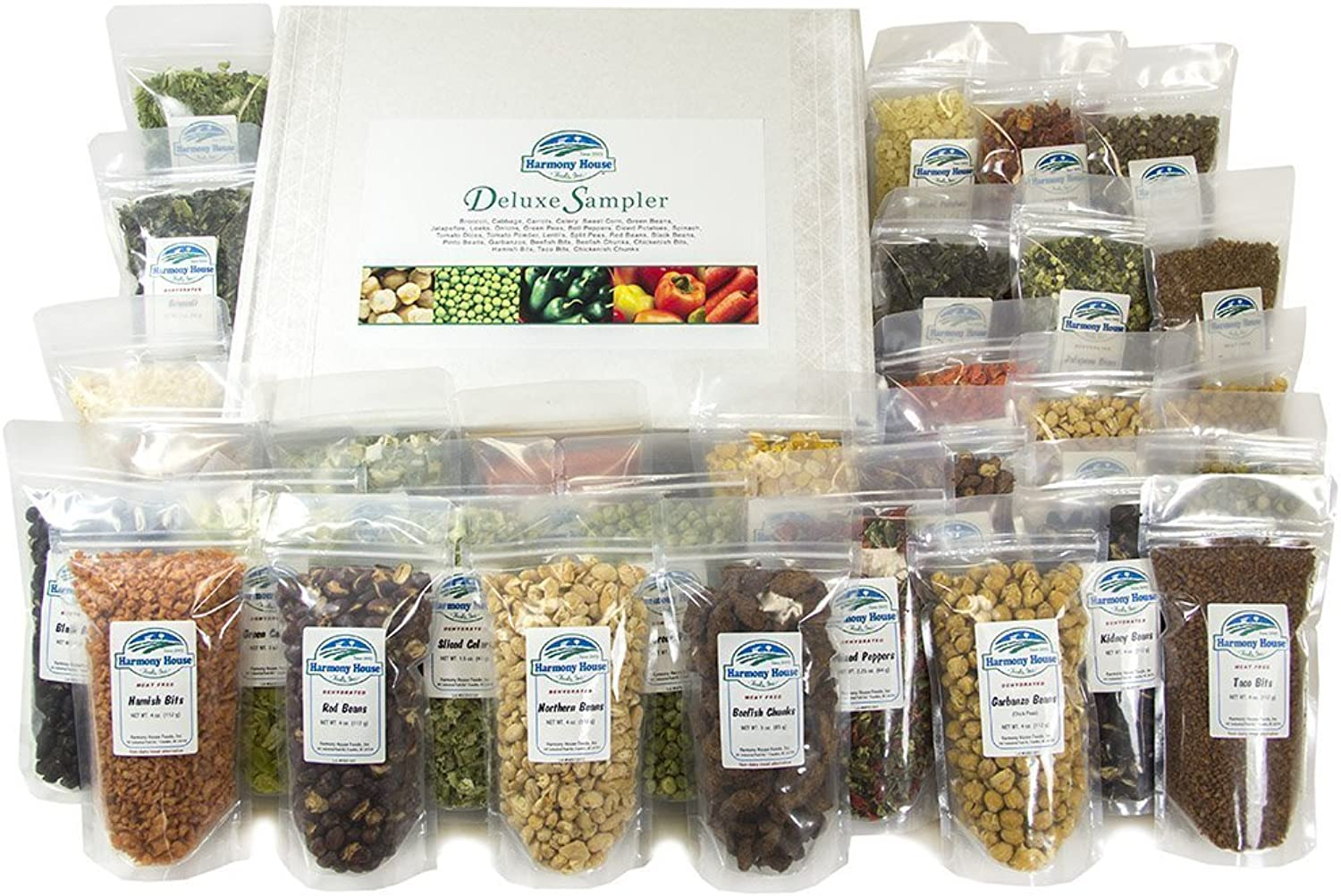 Harmony House Foods Deluxe Sampler (30 Count, ZIP Pouches) f