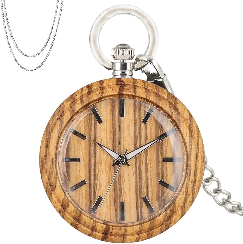 Arlington Ranking TOP11 Mall BOZNY Vintage Wood Quartz Pocket Classic 12-Hours Display Watch