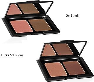 2 Pack - e.l.f. Studio Contouring Blush & Bronzing Powder (St. Lucia & Turks and Caicos)