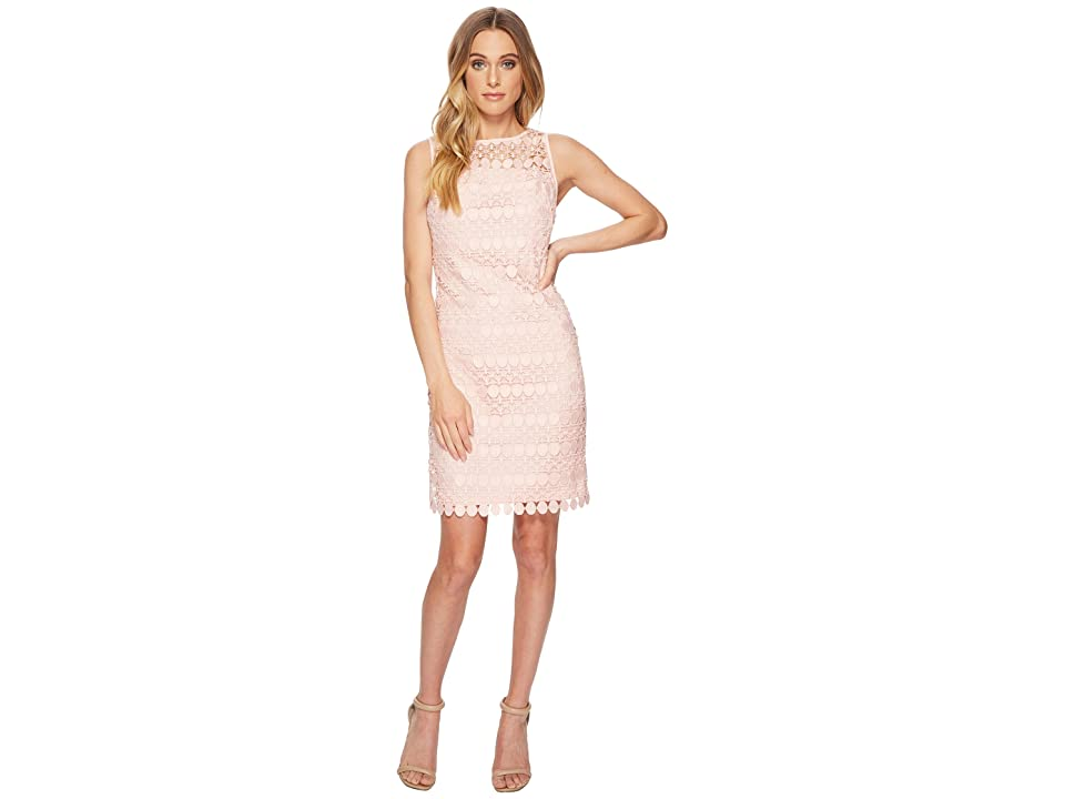 LAUREN Ralph Lauren Melia Circlet Geo Lace Dress (English Rose) Women