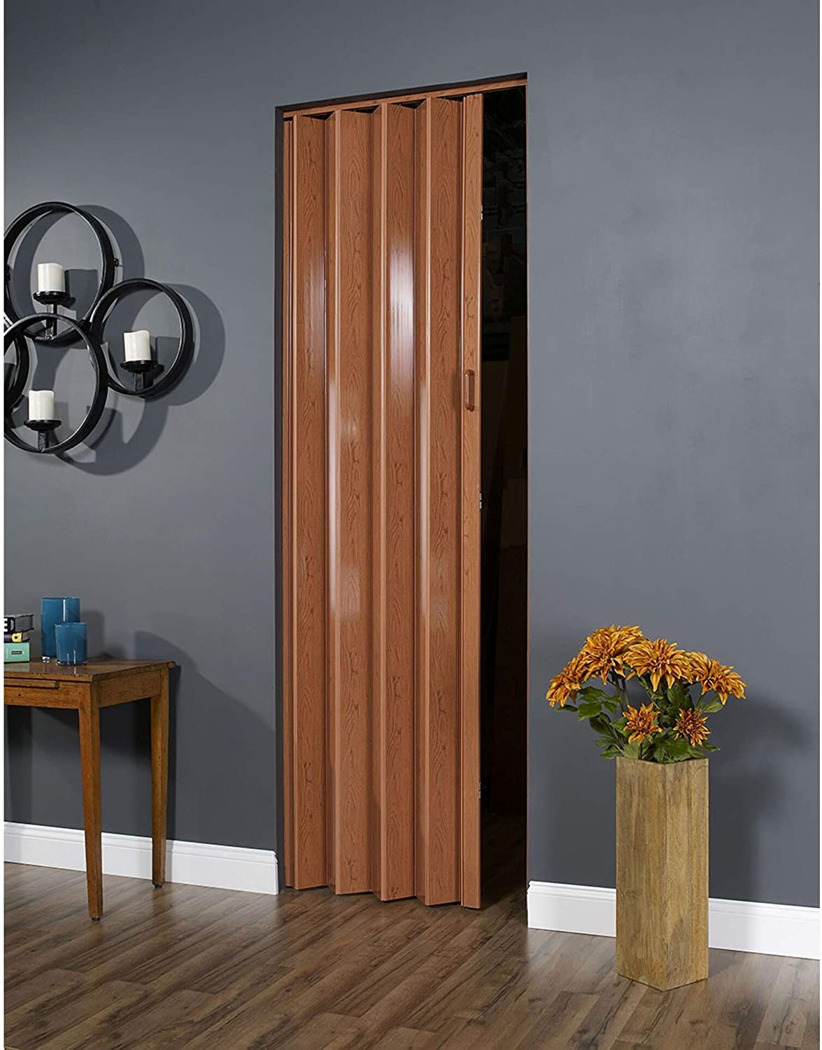 Pecan 36-inch Folding Max 80% OFF Door Includes Hardware National products Plastic
