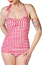 Esther Williams Bombshell Pinup Women's ONE Piece Bathing Beauty Girl Prints Swimsuit