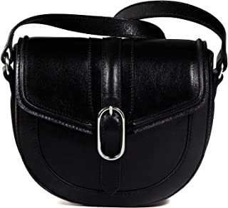 Massimo Dutti Women Limited edition black leather crossbody bag 6927/555