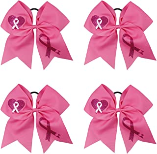 cheap breast cancer awareness cheer bows