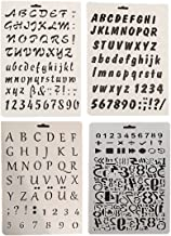 Letter and Number Stencil Sets 4 Pack for Making Signs and Art Projects
