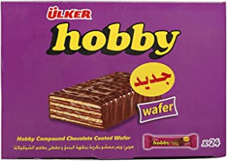 Ulker Hobby Compound Chocolate Coated Wafer, 20 gm (Pack of 24)