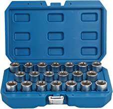 WINMAX TOOLS AUTOMOTIVE Compatible for 20PC Master Locking Wheel Nut Key Socket Set OEM Spline for Porsche Cayenne VW