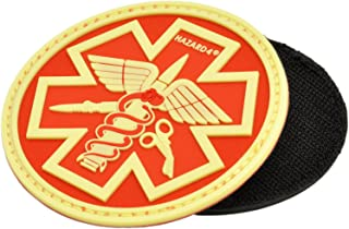 Hazard 4 3D Combat Caduceus Paramedic Morale Patch Glow in the Dark / Red