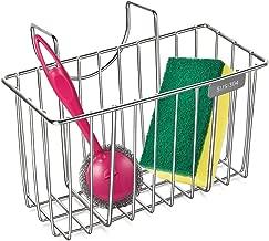 hblife Kitchen Sponge Holder Stainless Steel Sink Caddy Organizer Soap Dishwashing Liquid Drainer Brush, Rack, Draining Basket