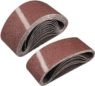 """3""""x 18"""" 40 kornslipbälte Aluminiumoxid sandpappersbälten för bärbar rems slipmaskin träfinish metall gips polering slipnin..."""