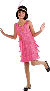 Forum Novelties Little Miss Flapper Child's Costume,Pink, Small
