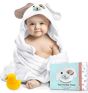 حوله توالت مخصوص کودک. پنبه بامبو 100٪ ارگانیک. سوپر جاذب ، برای پسران و دختران. فوق العاده نرم ، X-Large ، 35 35 35 اینچ. هدیه دوش کودک کامل با Bonus Washcloth و کارت تبریک