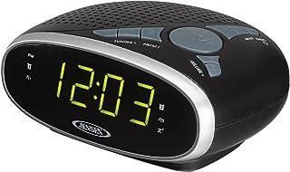 Jensen JENSEN JCR-175 AM/FM Alarm Clock Radio with 0.9-Inch Green LED Display, Black