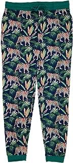 Mens Blue Jungle Tiger Jogger Pant Sleep Pant Lounge Pant Pajama Bottoms