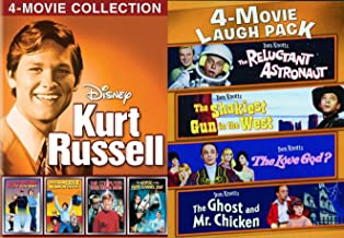 Wide-eyed Comedy Kurt Russell Don Knotts Strongest Man World / Computer Wore Tennis Shoes / Horse Grey Flannel / Now You See Him Disney + Reluctant Astronaut / Ghost Chicken 8 Family DVD Movie Pack